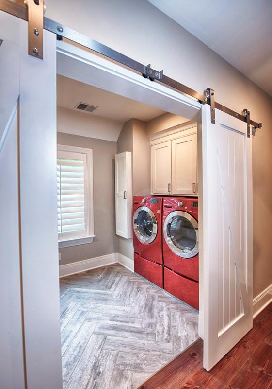 2nd Floor Laundry w/ Custom Barn Doors