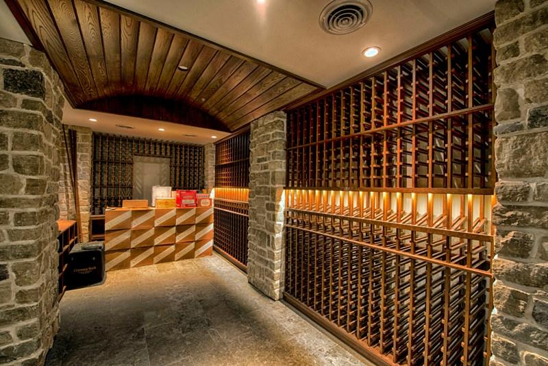 Wine Cellar with Barrel Vault Ceiling