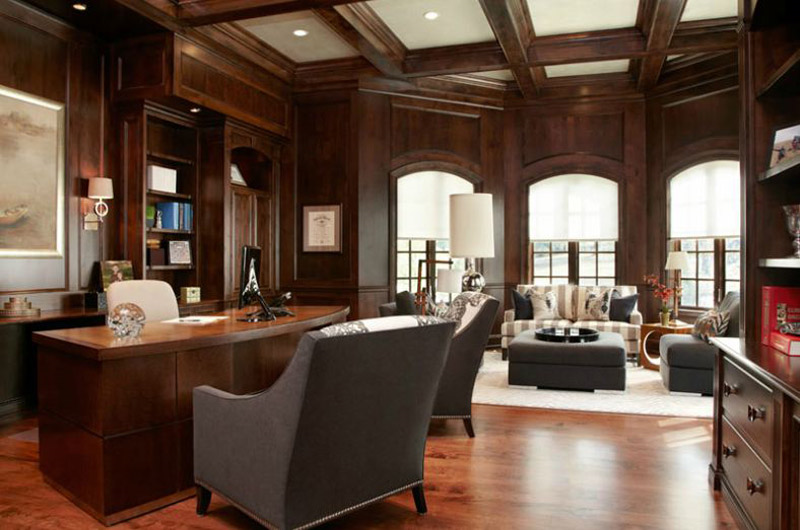 Home Office - R.E.A. Homes | St. Louis Custom Home Builder