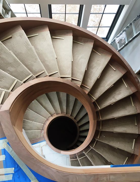 Spiral Staircase Custom Home