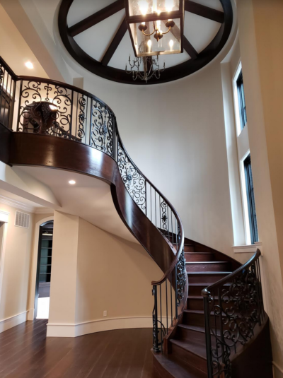 Custom Stairs at Entry Foyer